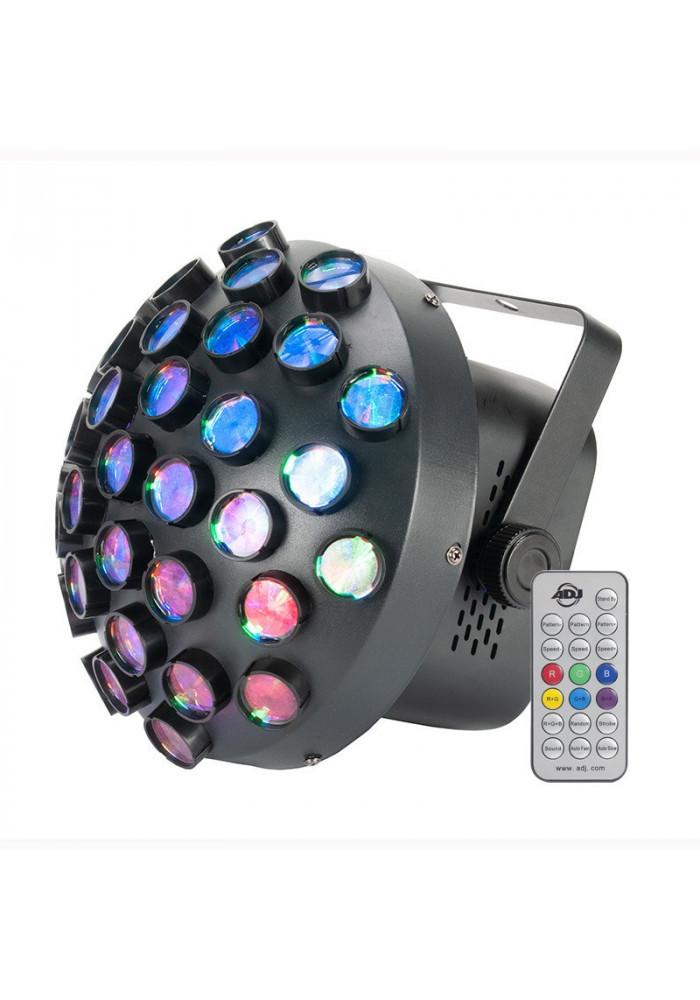Contour - Contour fra ADJ er en del af den populære Startec serie. Med sine 36 linser og 27 x 1,5 watt RGB LED skaber Contour en masse roterende streger som skaber et flot lysshow, selv uden brug af røg!