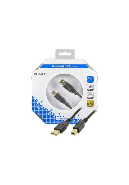 USB A til B 1m i æske
