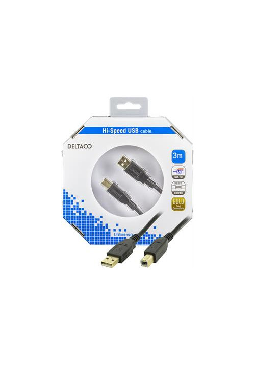 USB A til B 2m i æske