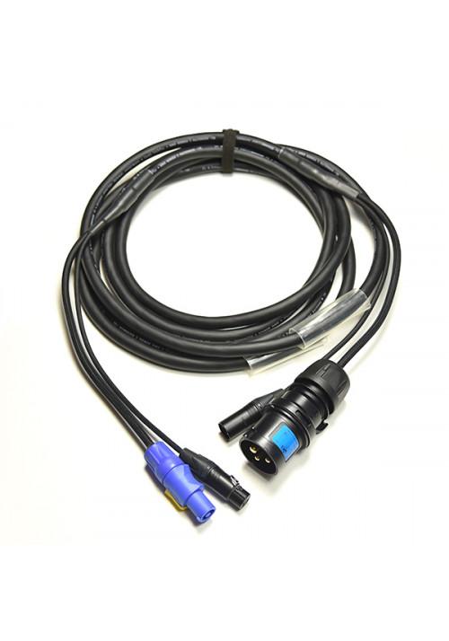 Kombikabel DMX 3P Cee - Powercon