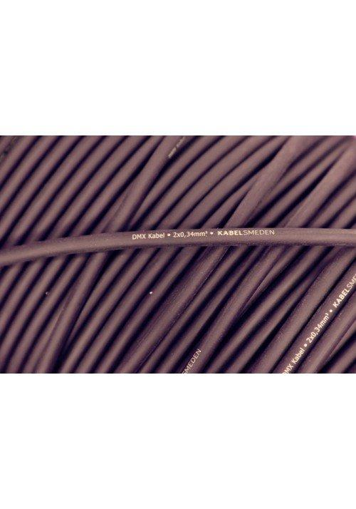 DMX Kabel 2 x 0,34mm2 Kabelsmeden 100m