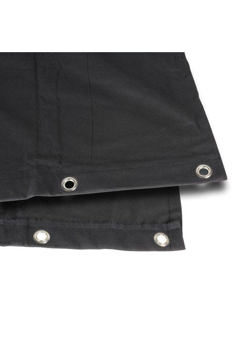 Bagtæppe B1 sort med øjer 3 x 3m