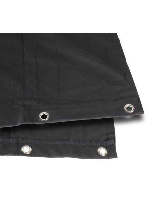 Bagtæppe B1 sort med øjer 3 x 6m