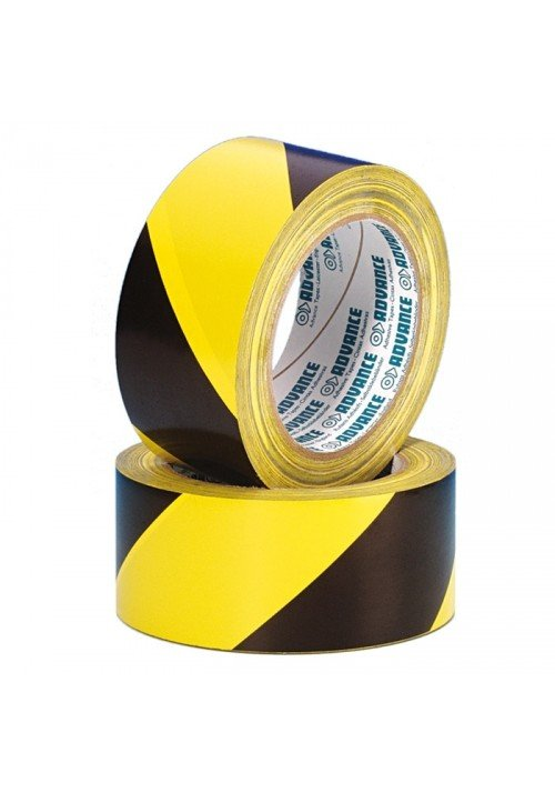 Sikkerheds Tape Sort/Gul 50mm x 33m