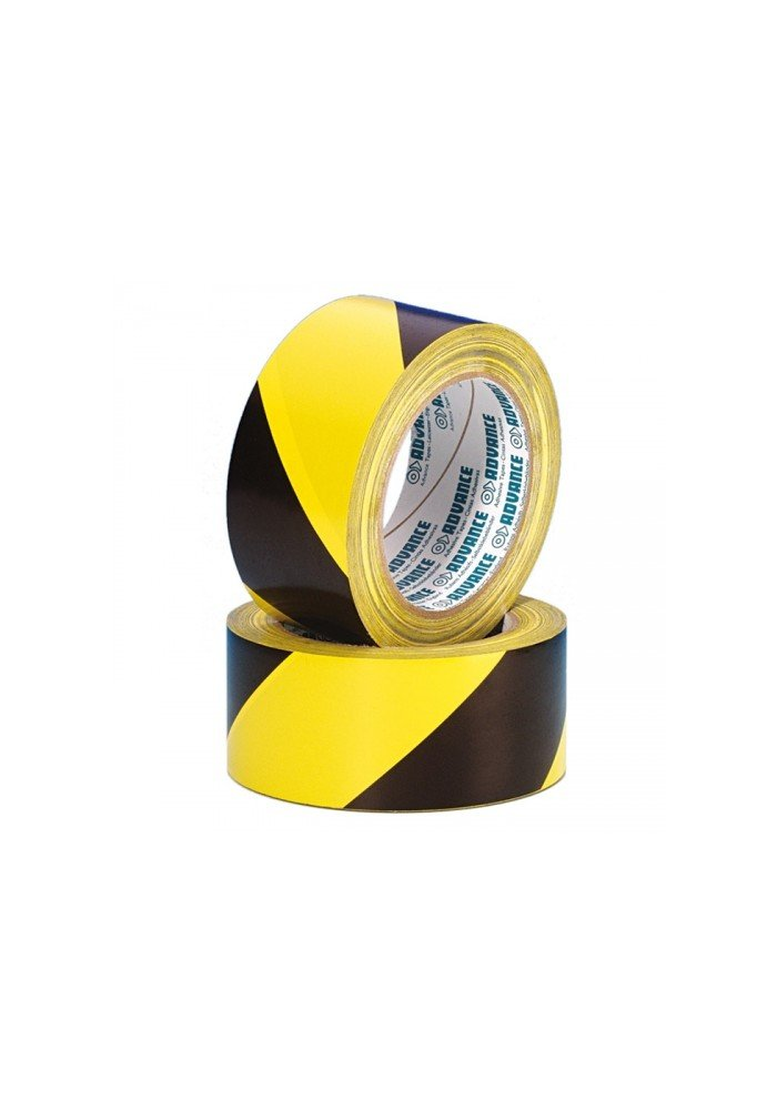 Sikkerheds Tape Sort/Gul 50mm x 33m