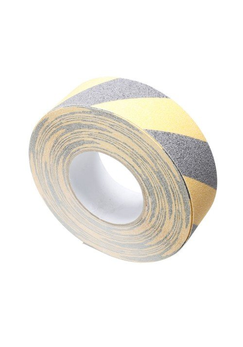 Skridsikker Tape Sort/Gul 50mm x 18m