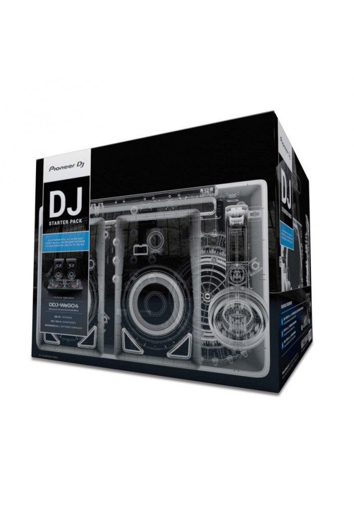 DJ STARTER PACK Wego4HDJ700DM40 - WeGO4DDJ-WeGO4 er Pioneers mest kompakte DJ-controller. Den er kompatibel med en langrække af enheder og softwares, og med en vægt på blot 1,8 kg og enstørrelse på 38x24x5,9 cm har det aldrig været nemmere at tage ud og spille musik.Med de nedarvede fu