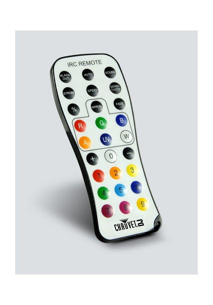 IRC 6 Infrared Remote Control 6 - IRC-6 er en brugervenlig infrarød fjernbetjening (IRC) til IRC-kompatible lysarmaturer. Den giver øjeblikkeligt adgang til forprogrammerede mønstre og farveblandingsmuligheder. Denne kompakte og lette fjernbetjening har en cirka rækkevidde på 9 m.