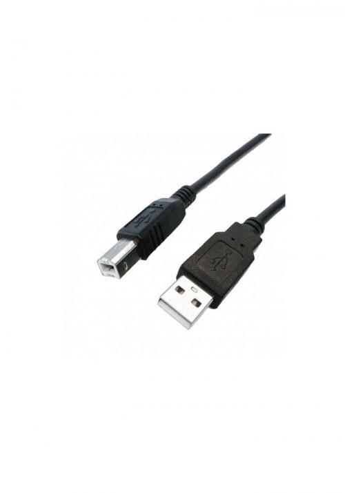 USB Spiralkabel 2m Sort